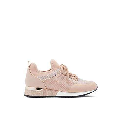 ALDO womens Courtwood Fashion Lace Up Sneaker, Rose Gold, 11 US