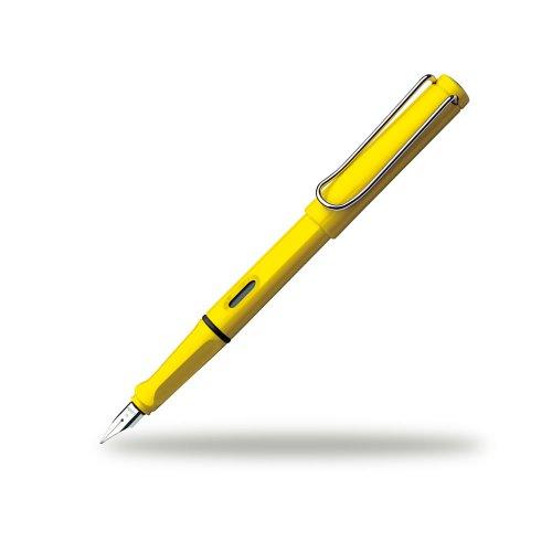 Lamy FH08113 -Füllfederhalter Safari, Feder: B,Modell 018, gelb