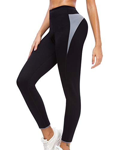 SEXYWG Women Sauna Pants Weight Loss Legging Neoprene High Waist Hot Thermo Body Shaper Black