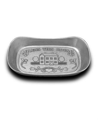 Wilton Armetale Bless This House Large Bread Tray - Matte Finish