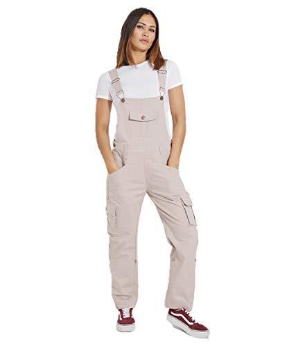 USKEES Damen-Latzhose - Beige Verstellbare Beinlänge Mode Latzhosen DAISYPORPOISE-18