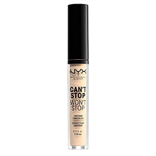 NYX Professional Makeup Correttore Can't Stop Won't Stop, Correttore Viso Liquido, Adatto a Tutti gli Incarnati, Pale, Confezione da 1
