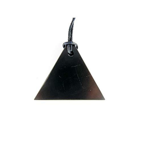 Colgante Triángulo Shungit Shungite, Shungita, Rectangular, Protección, Natural,Minerales y Cristales Para Curación, Belleza Energética, Meditacion, Medicina Alternativa, Amuletos Espirituales