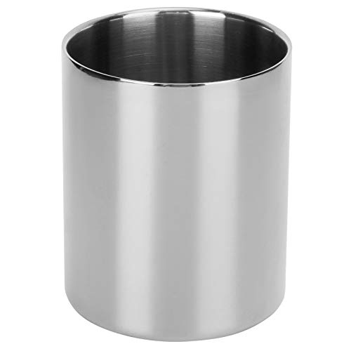 FOLOSAFENAR Vaso para lápices de diseño Moderno, Vaso para Pinceles de Maquillaje Multiusos Que Ahorra Espacio, para el hogar para Estudiantes para Cocina para Escuela(Silver)