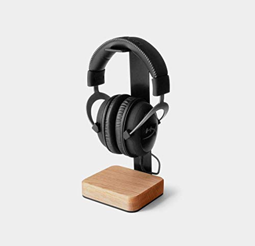 MTANK Headphone Stand Wood - Steel and Wood Headphone Holder Makes Great Gift for Music Lover