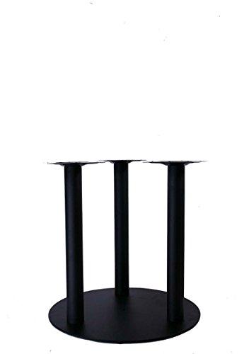 Tischgestell Höhe 72 cm, Tischfuß, schwarzes Gestell, 3 Tischbeine, runder Fuß, Modell