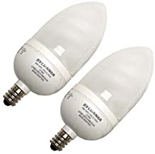 Sylvania 29585 - CF9EL/B10/C/ADP/827/2PK Torpedo Screw Base Compact Fluorescent Light Bulb