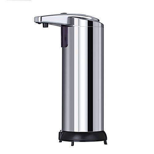 YZCX Dispenser per sapone automatico 250ml Distributore di sapone Sensore a infrarossi Touchless acciaio inossidabile con base impermeabile per la cucina e bagno Office Sanitizer Shampoo Lotion