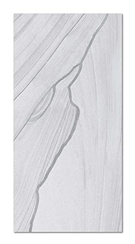 Panorama Alfombra Vinílica Mármol Gris 40x80 cm - Alfombra en Vinilo - Alfombra Salón Antideslizante, Antihongos e Ignífuga - Alfombras Grandes - Alfombras PVC