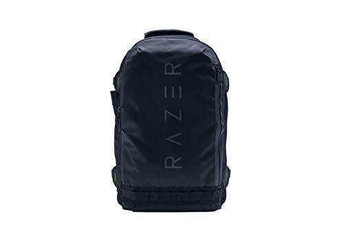 Razer RogueGaming Laptop-Rucksack, reißfest und wasserabweisend, Netz-Seitentasche für Wasserflaschen, Notebookfach, passend für 13 Zoll Laptops schwarz 17 inch