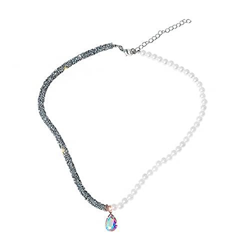 JIAQINGRNM - Collar para mujer, cadena de clavícula japonesa y coreana