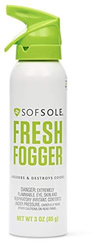 Sof Sole Fresh Fogger Shoe, Gym Bag, and Locker Deodorizer Spray, 3-Ounce, 1 Pack