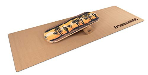 BoarderKing Hawaii - Tabla de Skateboard, Tabla de Equilibrio, 100 mm, Rollo de Corcho