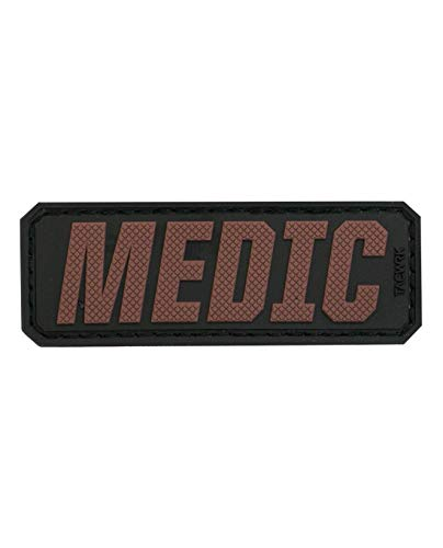 Medic -PVC Identification Morale Patch with Hook and Loop Backing (Coyote)
