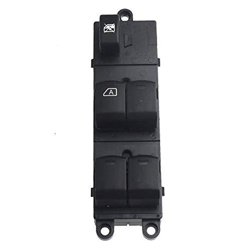 Interruptor de pomo de coche delantero izquierdo, interruptor de ventanilla eléctrico, ajuste para Nissan/apto para Navara D40/apto para Qashqai Pathfinder (negro)