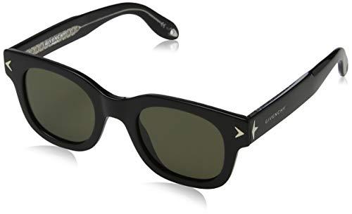 Givenchy GV 7037/S E4 Y6C Occhiali da Sole, Nero (Black Black Crystal/Brown), 47 Unisex-Adulto