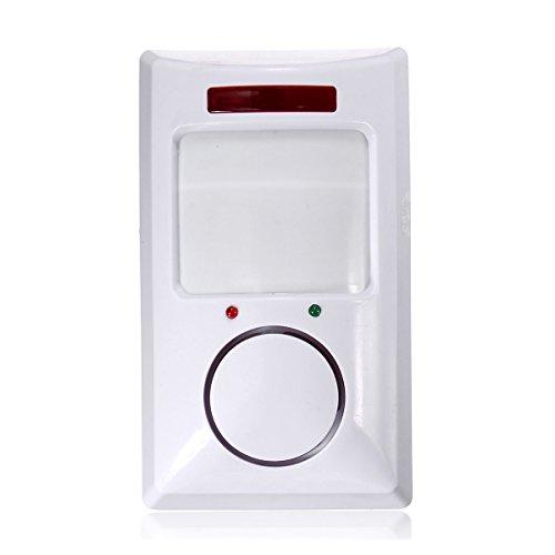 Bestlymood detector de sensor de movimiento de IR inalambrico & sistema de alarma de seguridad remoto de casa blanco
