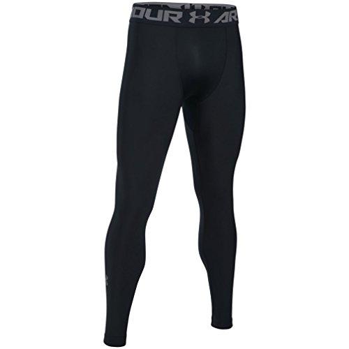 Under Armour HeatGear 2.0, Comfortable Gym Leggings for Men, Lightweight Thermal Underwear with Tight Fit Design Men, Black (Black/Graphite (001)), L