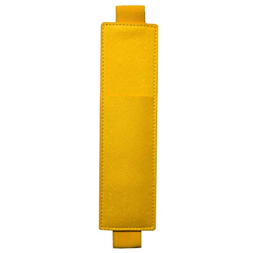 This is My Era Pen Holder for Notebook, Pencil Holder, Pen Sleeve Pouch for Any Planner, Journal or Book - Leather, Secure Loop, Elastic Band, Detachable (Yellow, 1-Pack)