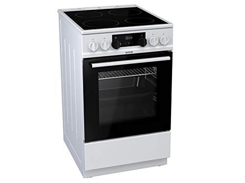 Gorenje EC 5341 WG Elektro-Standherd mit Glaskeramik-Kochfeld/HomeMade Backofenform/GentleClose/AquaClean/PerfectGrill, weiß