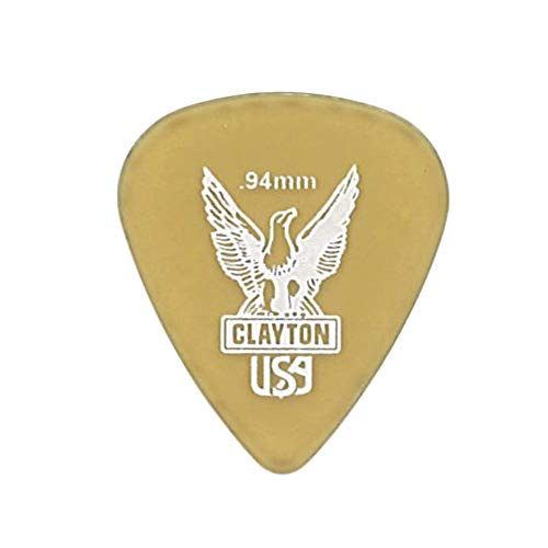 Clayton USA Ultem Gold 0.94mm スタンダード ギターピック×36枚