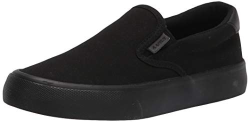 Lugz Women's Clipper Classic Slip-on Fashion Sneaker, Black, 8