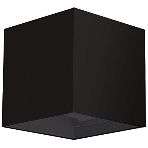 Applique murale noire cube LED Lampe en cube pour mur avec angle d'éclairage réglable Design moderne et raffiné Luminaire étanche IP 65 Blanc chaud