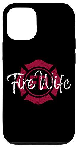 iPhone 12/12 Pro Firefighter Wife Phone Case, Fire Wife, Womens Fireman Wife Case