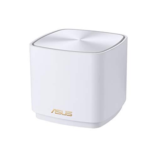 ASUS ZenWifi AX Mini (XD4) - Sistema de Red mallada Wi-Fi 6 AX1800 (Cubre hasta 446 m2, instalación Sencilla, Funciones de Seguridad y Controles parentales), Color Blanco