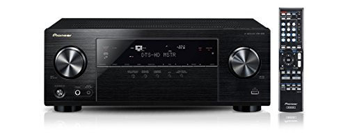 Pioneer VSX-830-K 5.2 Netzwerk-Mehrkanal Receiver (140 Watt Pro Kanal, WiFi, Bluetooth, Ultra-HD Video Scaler, HDCP 2.2, App Steuerung, Airplay, DLNA, Internetradio, Spotify Connect) schwarz