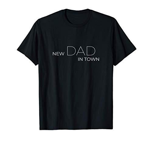 Herren New Dad in Town - cooles Papa & Partnerlook T-Shirt