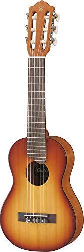 Yamaha GL1 Guitalele - Mini Guitarra de Madera con las dimensiones de un Ukelele, escala de 17 pulgadas, 6 cuerdas (3 en nylon / 3 en acero), Marrón (Tobacco Brown Sunburst)