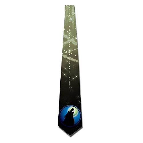 ONESEDA Men`s Wolf Moon Tie Necktie Ties