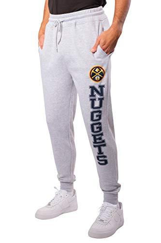 Ultra Game NBA Denver Nuggets Mens Team Jogger Pants, Left Leg Logo, X-Large