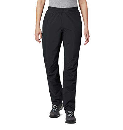 Columbia Evolution Valley Pantalón Impermeable, Mujer, Negro, M/R