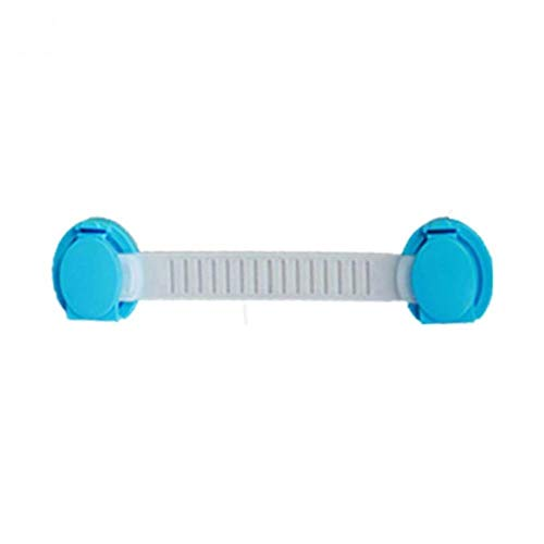 FTFSY 10pcs/Set Baby Kids Multifunction Safety Locks Lengthen Drawer Door Cabinets Strap Safety Locks Plastic Kids Care Locks,Blue Long Type