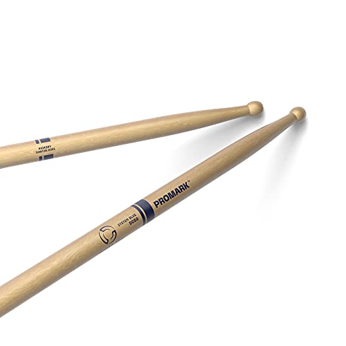 PROMARK System Blue DC50 Hickory Drumsticks, Wood Tip, One Pair