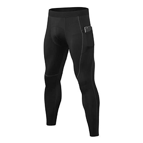 N\P Pantalones estrechos para entrenamiento, correr, ciclismo, muy elásticos, estrechos, de secado rápido gris L