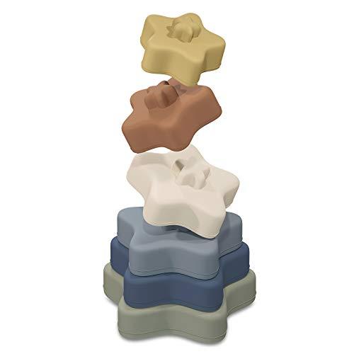 TYRY.HU Bloques Apilables para Bebés 6 Meses,Juguetes Bebe para Masticar la Dentición Juguetes Educativos paral Bebé Juegue 0-3 años(Comienzo) (Bloques Apilables-Comienzo)