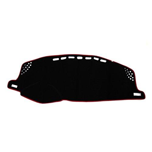 Sourcingmap Rouge Noir Voiture Dash Couverture Dashmat Sun Tableau Bord Tapis Pad pour CT200H