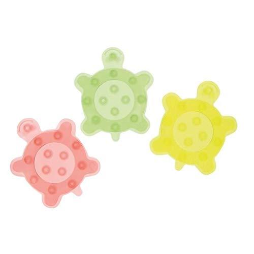 bébé Comfort Set van 6 badkuipen anti-slip sticker schildpad groen/geel/rood