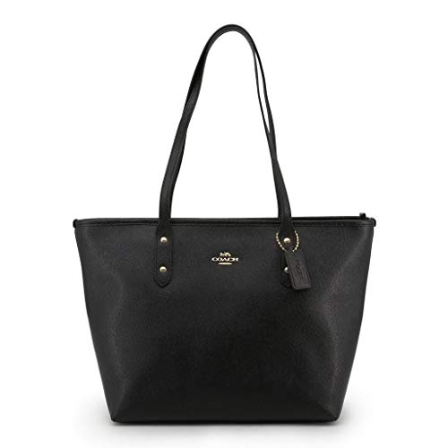 Price comparison product image Coach Women's Crossgrain Leather City Zip Tote No Size (Im / Black)