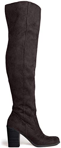 Avalon Over The Knee High Heel Boot, Black IMSU, 6 B(M) US