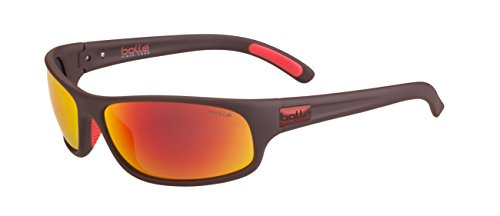 Bollé Erwachsene Anaconda Sonnenbrille, Matt Mono Red, Medium