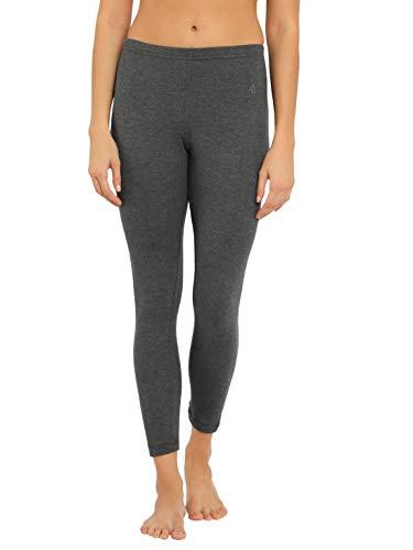 Jockey Women's Cotton Thermal Leggings (2520-0105-CHAML_Charcoal Melange_Medium)