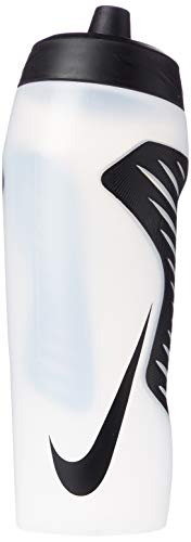 NIKE Unisex's Hyperfuel Water Bottle, Clear/Black/Black/Black, One Siz