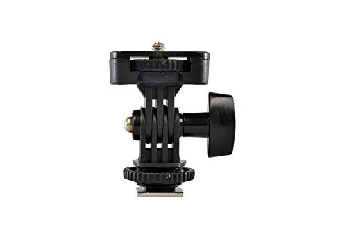SHOPEE Adjustable Angle Pole Swivel Hot Shoe Mount 1/4' Screw Hot Shoe Mount Adapter for Mounting Video Camcorder Monitors (Pack of 1)