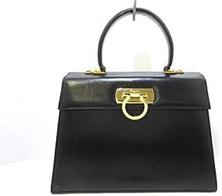 (サルヴァトーレ フェラガモ)Salvatore Ferragamo ハンドバッグ ガンチーニ 黒×ゴールド 【中古】