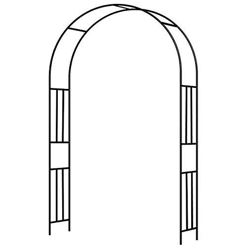 ZBYL Arco da Giardino Supporto per Rose Piante Rampicanti in Metallo, Garden Pergolas Metallo Arco Sostegno, Diametro del Tubo 19 mm Altezza 240 cm