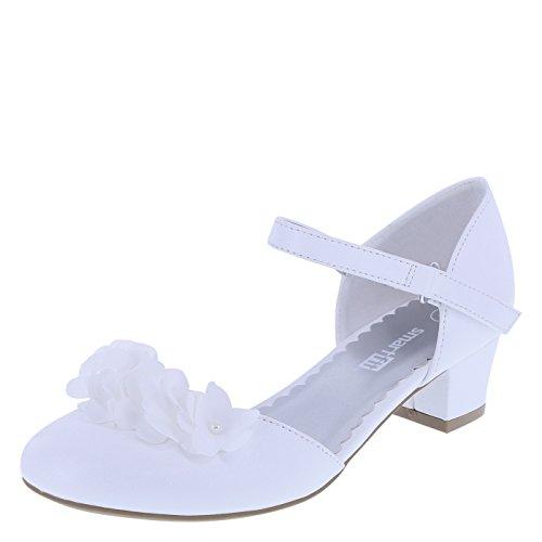 powerful Shichi Flower Heel 3 Normal White SmartFit Girls'